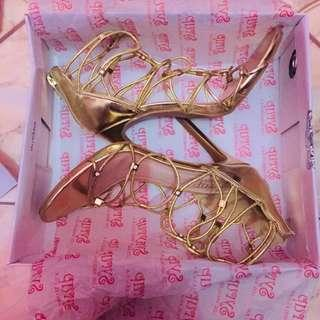 Gold gladiator heels REPRICED!!