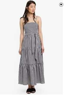 MDS collections checkered maxi dress in S size