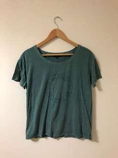 Green Aritzia Graphic T-Shirt