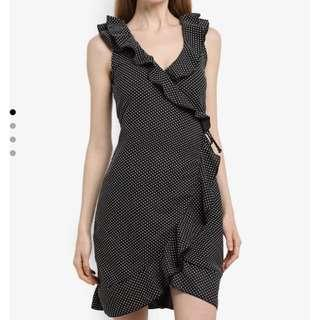 Lost Ink polka dots wrap dress in size34
