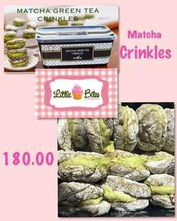 Matcha Crinkles by Little Bites