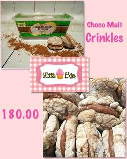 Choco Malt Crinkles by Little Bites