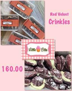 Red Velvet Crinkles by Little Bites