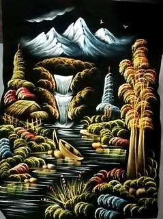 🚚 Painting - Waterfall and Mountains
