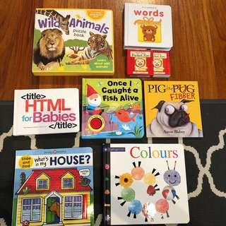 Brand new books html for babies, jigsaw book, slide and find, colours, music, dear zoo