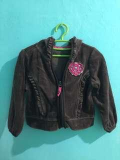 Brown Hearts Toddler Jacket