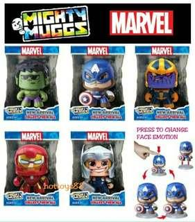 MARVEL MIGHTY MUGGS CHANGING FACE FIGURE THANOS IRONMAN SPIDERMAN FUNKO