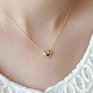 Love heart necklace gold for woman's fashion