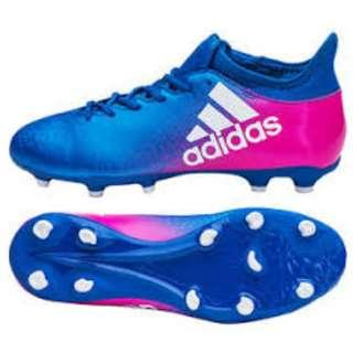 Adidas X 16.3 Blue and pink