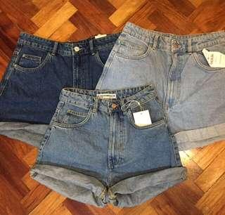 Zara High rise Shorts