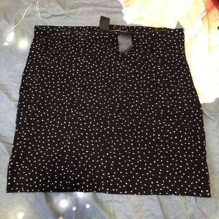 H&M polka dot bodycon skirt