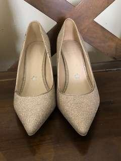 Pedder Red champagne heels