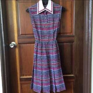 Colourful Vintage Midi Dress