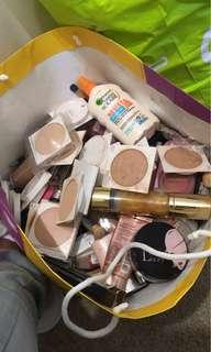 Branded make up mixed and used