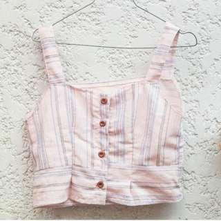 Crop Straight Neck Top
