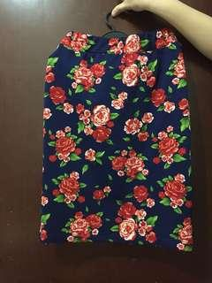 Rok/skirt motif bunga