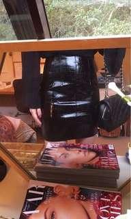 BNWT Bardot Patent Leather Skirt