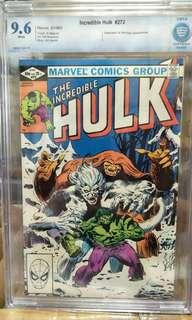 Marvel Comics vintage collectibles classics rare Key issue Hard to find comics graded CBCS 9.6 not cgc