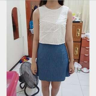 Dress white denim