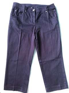 Mango 3/4 cotton pants