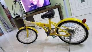 摺疊單車五段速度