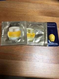 Loccitane Divine Cream Eye Balm immortelle reset oil Serum  $25 all