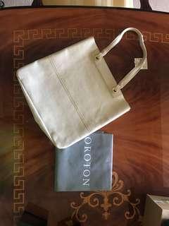 Oroton Entourage Large Leather Tote (Ivory) Cream / White Handbag AUTHENTIC