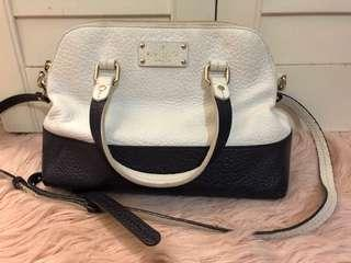 Kate Spade Grove Court Maise Satchel White/Navy Blue