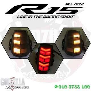 Integrated Rear Tail Light Turn Signal for Yamaha YZF-R15 V3