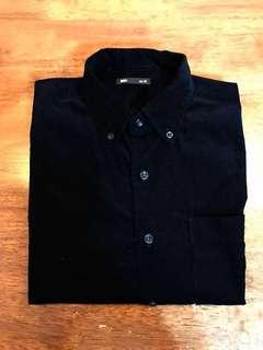 🚚 Lative 長袖燈芯絨襯衫 M號。黑色
