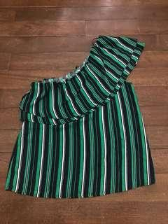 One sided stripe top