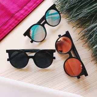 [85% off] Cleopatra Catty Polarized Mirror Sunglasses Shades | Dawn Orange, Ocean Blue, Midnight Black | Made in South Korea