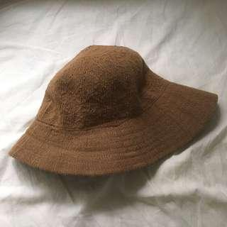 🚚 Vintage 日本製 編織亞麻混棉 卡其帽 92pleats pimgo pazzo soulsis
