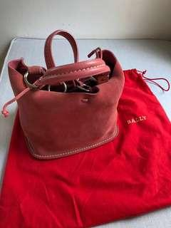 Bally suede bucket bag