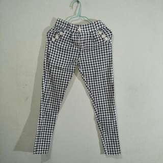 Celana Panjang Houndstooth trousers