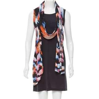 🚚 MCQ BY ALEXANDER MCQUEEN Dress with Scarf Overlay