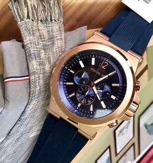 MK Watch Rubber Strap Blue