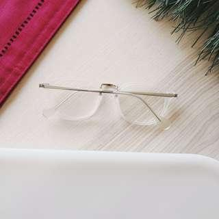[91% off] Frosted White Stainless Steel Vintage Glasses Spectacles | Made in South Korea