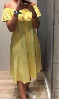 F21 off shoulder dress with pockets