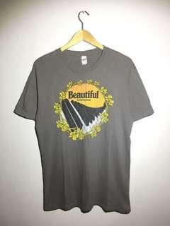 unisex tee with Beautiful the Carole King Musical piano