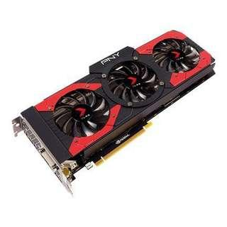 Graphic Card GTX 1070 PNY TRI FAN with backplate