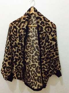 Transparent Leopard Blazer 👸🏼