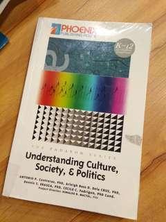 Understanding Culture, Society & Politics K12 Senior High School Book Grade 11 & 12
