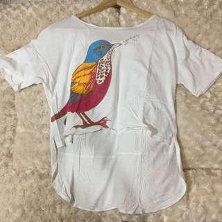 bird asymmetrical tshirt
