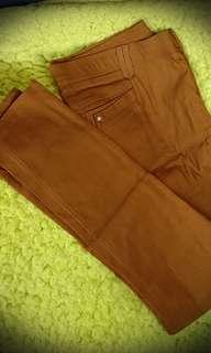 Brown Garterize Pants