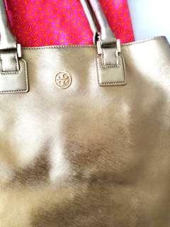 Tory Burch metallic bronze bag
