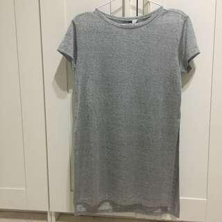H&M Grey Top with High Slits