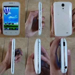 hp android murah evercoss A7T putih normal minus cassing