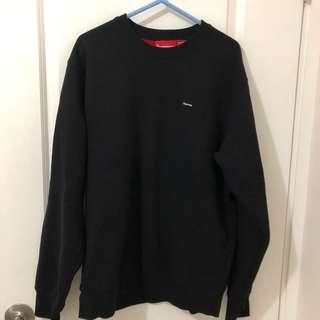 Supreme Blk x red contrast small box crewneck