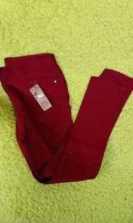 Maroon Pants Garterize